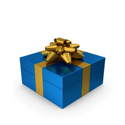Caja de Regalo Azul Dorado