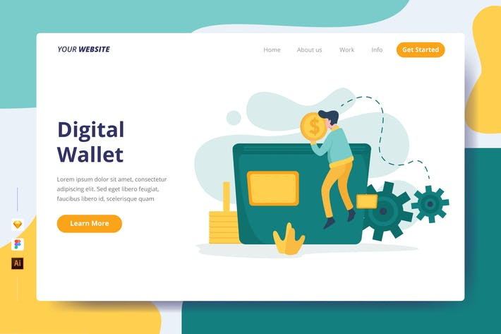 Thumbnail for Digital Wallet - Landing Page