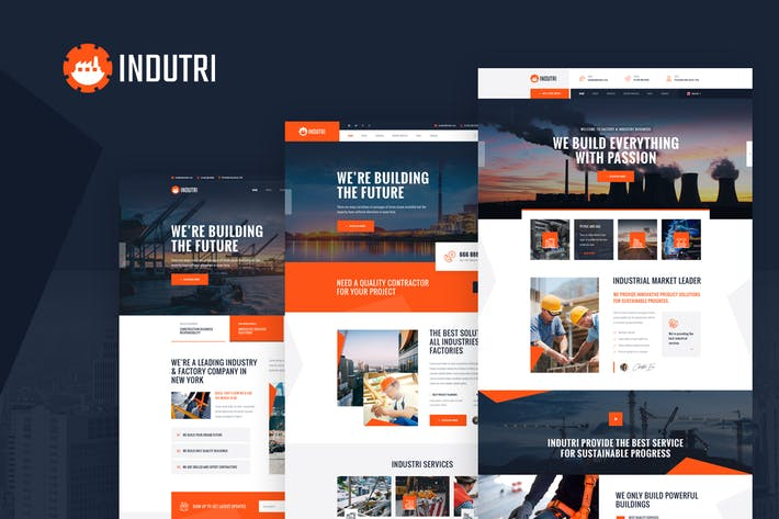 Thumbnail for Indutri - Vue Nuxt Industry & Factory Business
