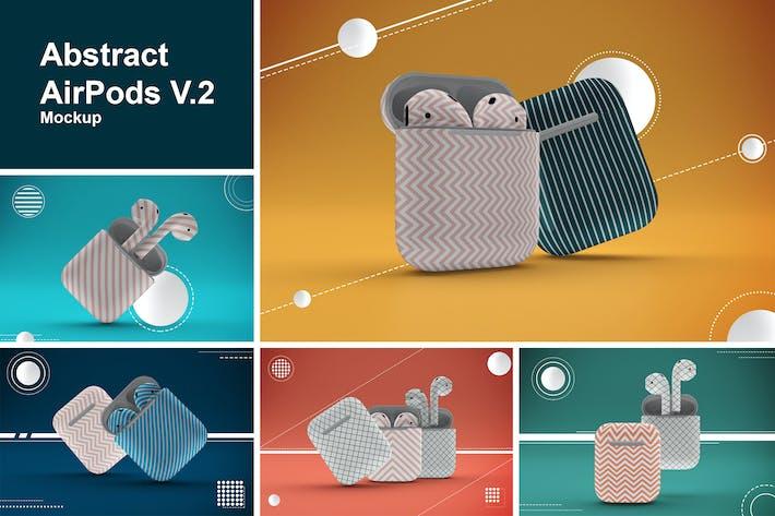 Thumbnail for Abstract AirPods Mockup V.2