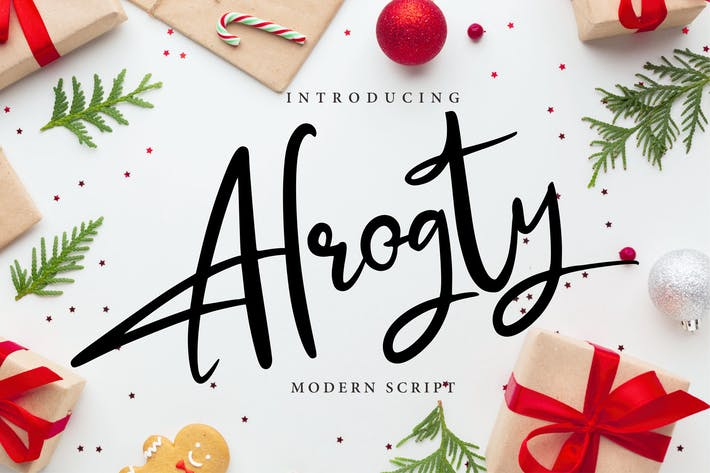 Thumbnail for Alrogty | Modern Script Font