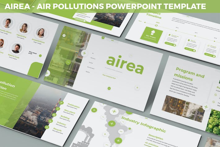 Thumbnail for Airea - Air Pollutions Powerpoint Template