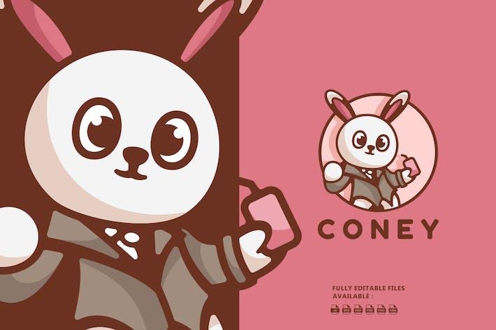 Thumbnail for Logo de dessin animé lapin