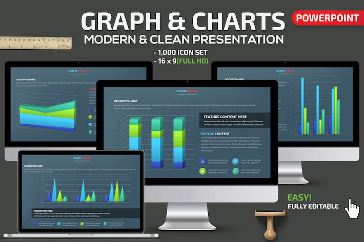 Thumbnail for Graph & Charts Powerpoint Presentation