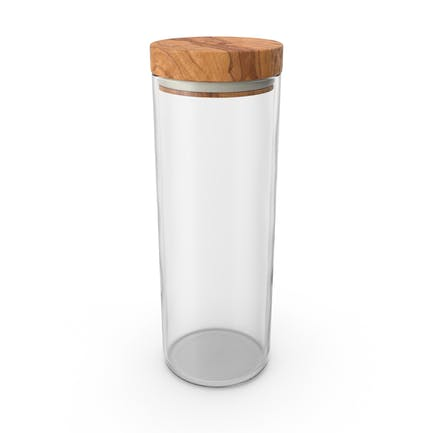 Kitchen Jar with Wood Lid