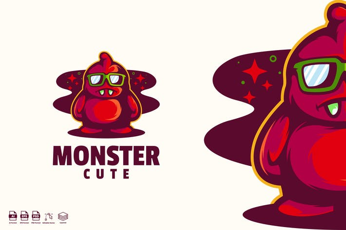 Thumbnail for cute monster logo