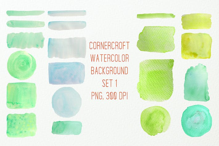 Thumbnail for Watercolor texture background green