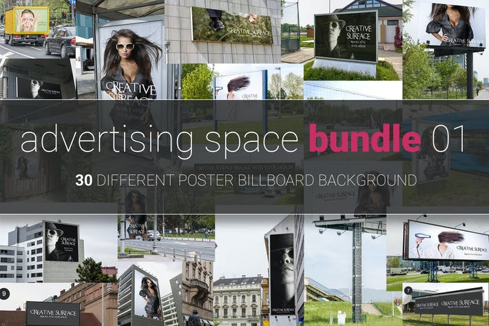 Cover Image For Advertising Space Mock-up Bundle 01