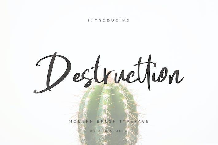 Thumbnail for Destructtion Script Font