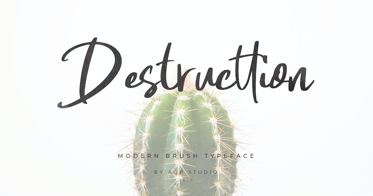 Download Destructtion Script Font by aqrstudio