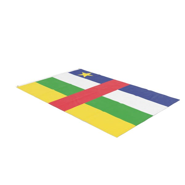 Flag Laying Pose Central African Republic