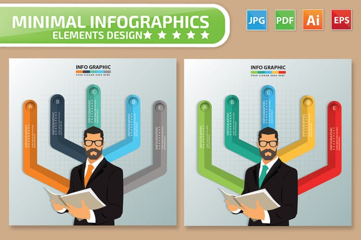 Thumbnail for Businessman Infographics Design
