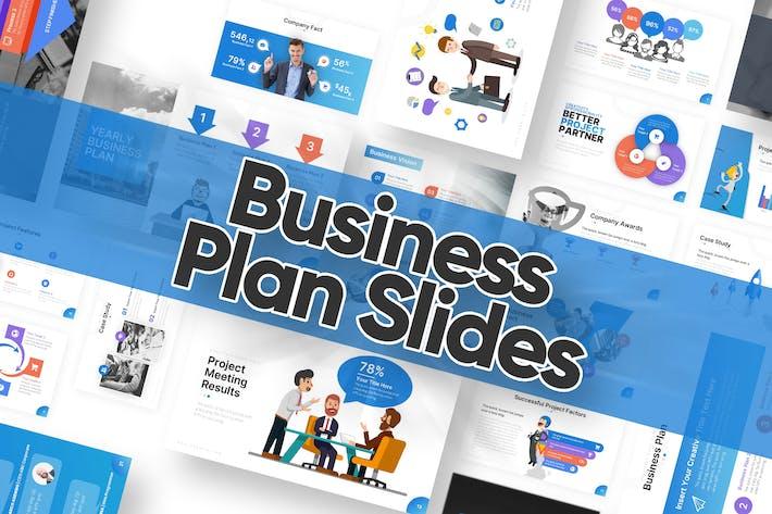 Thumbnail for Шаблон Powerpoint бизнес-плана слайды