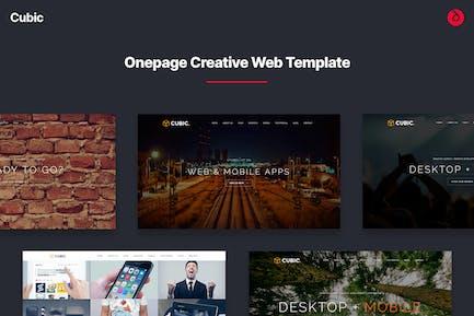 Cubic - Onepage Creative Multi-purpose Template