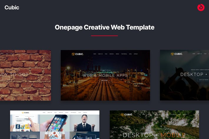 Thumbnail for Cubic - Onepage Creative Multi-purpose Template