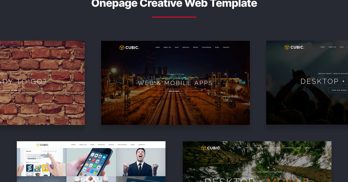 Download Cubic - Onepage Creative Multi-purpose Template by designesia