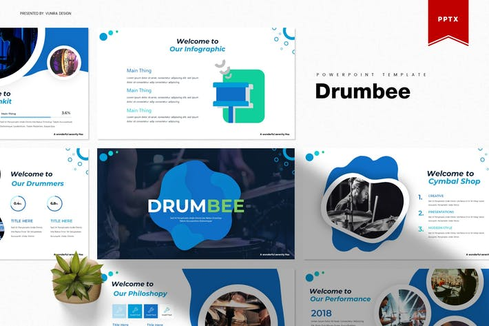 Thumbnail for Drumbee | Powerpoint Template