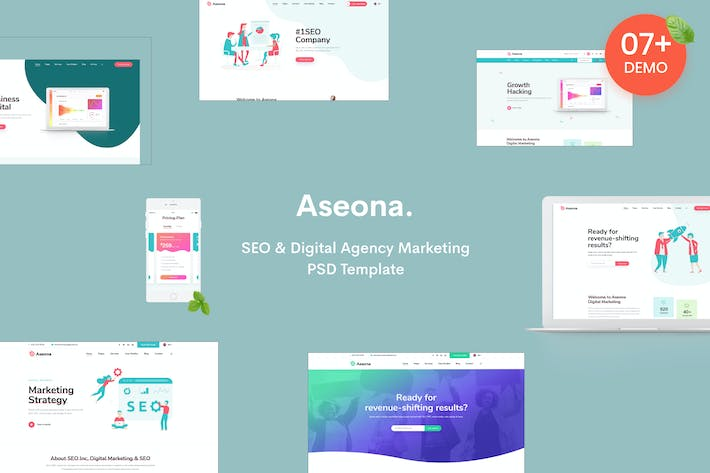 Thumbnail for SeoMoz | SEO Digital Marketing Template PSD