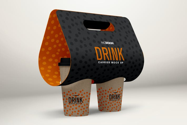Thumbnail for Coffee Drink Take out Carrier MockUp