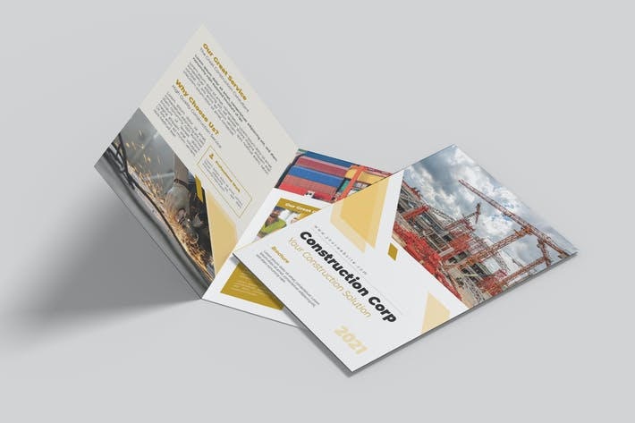 Construction Corp Bifold Brochure
