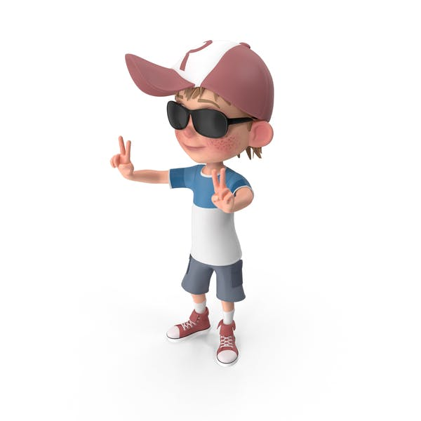 Thumbnail for Cartoon Boy Wearing Sunglasses