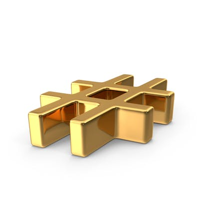 Gold Hash Tag