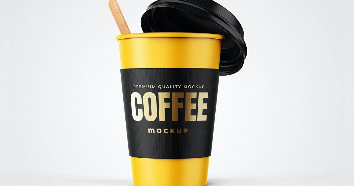 Download Take Away Coffee Cup Mockup by EightonesixStudios