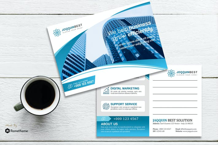 Thumbnail for Zaja - Creative Corporate Post Card HR