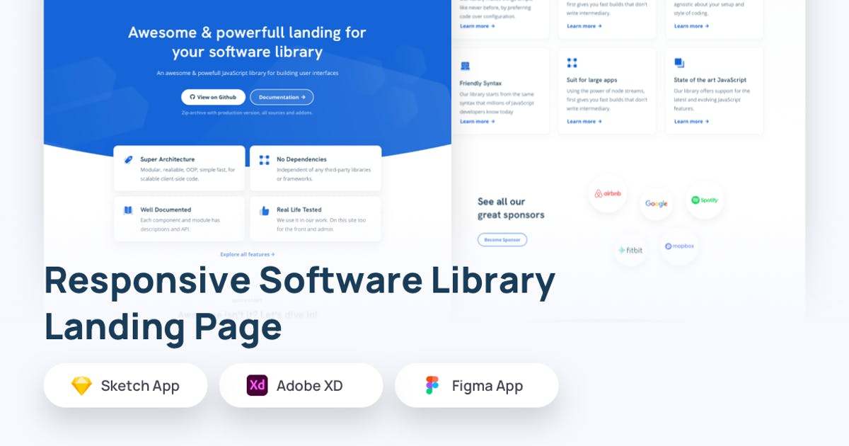Download Responsive Software Library Landing Page Template by usedesignspace
