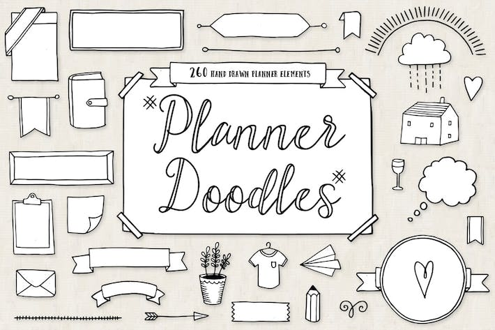 Cover Image For Bullet Journal Diary Planner Doodles