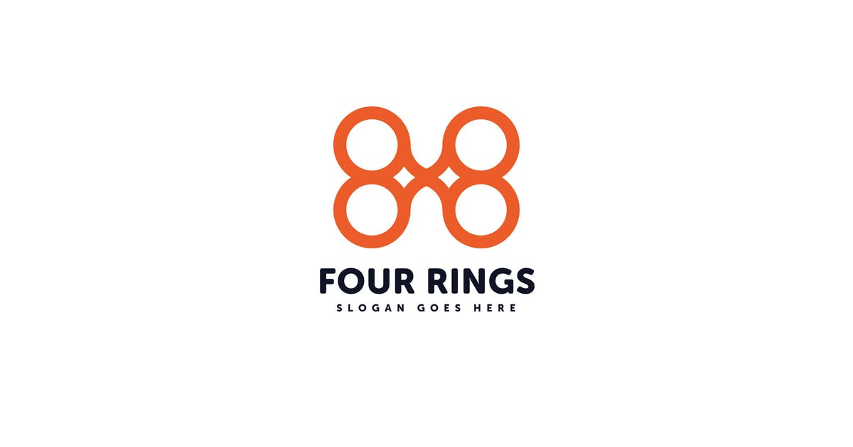 Download Four Rings Logo Vector Template by Pixasquare