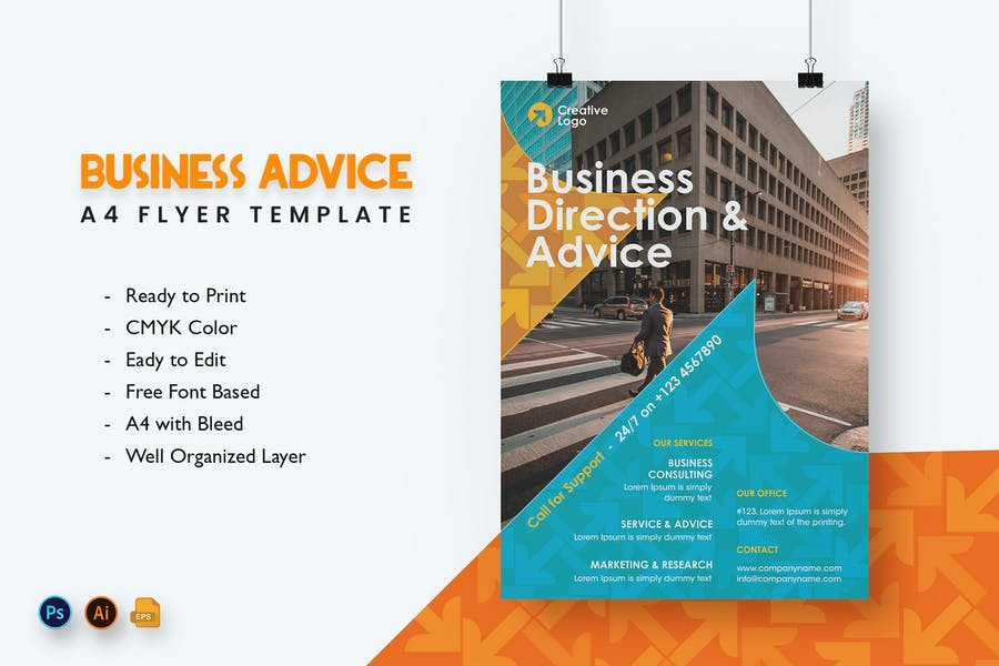Business Advice Agency Flyer Template