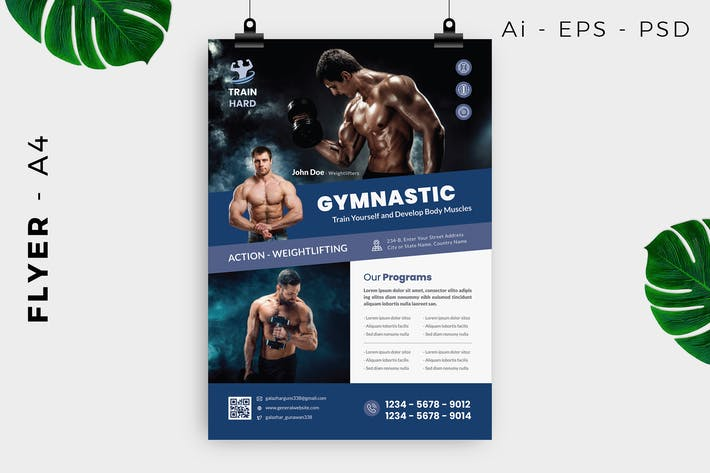 Thumbnail for Gymnastic Body Building Flyer Design