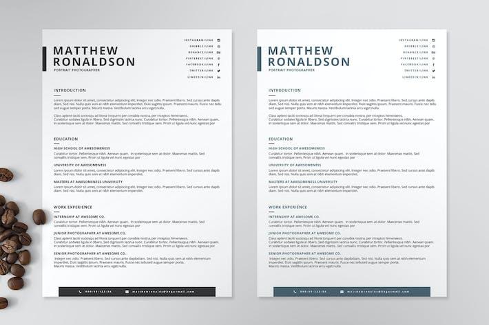 Thumbnail for Resume/CV Template VII