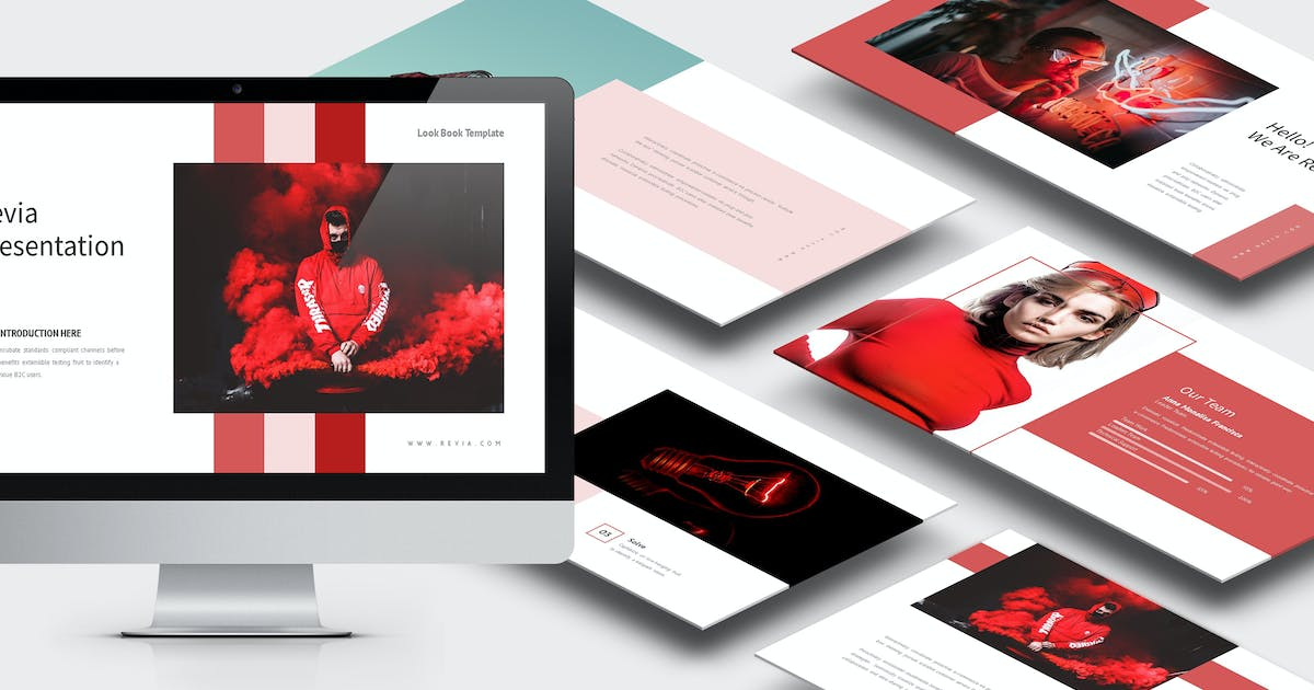 Download Revia : Red Gradient Color Tone Powerpoint by punkl