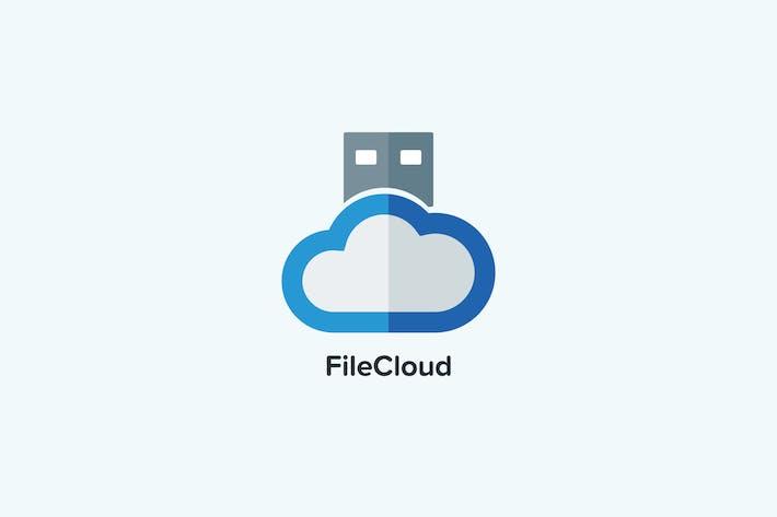 Thumbnail for Шаблон логотипа файлового облака
