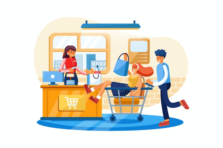 Payment System vector illustration concept.