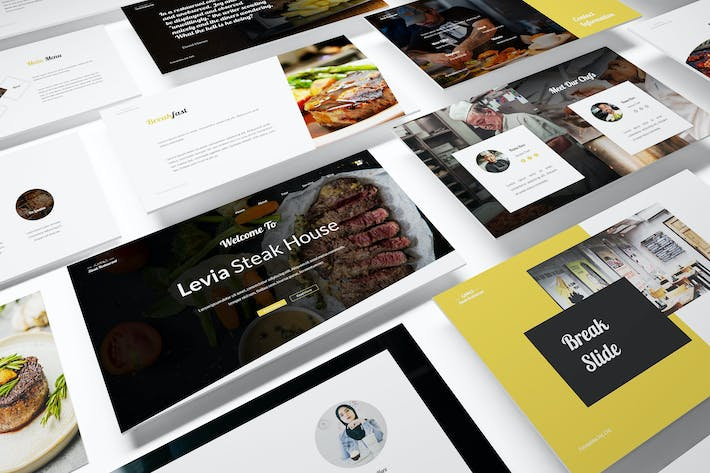 Thumbnail for Steak House Powerpoint Template