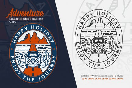 Adventure Monoline Logo Badge Template V.05