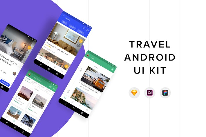 Thumbnail for Travel Android UI Kit