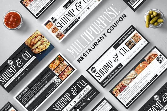 Seafood Restaurant Coupon Card