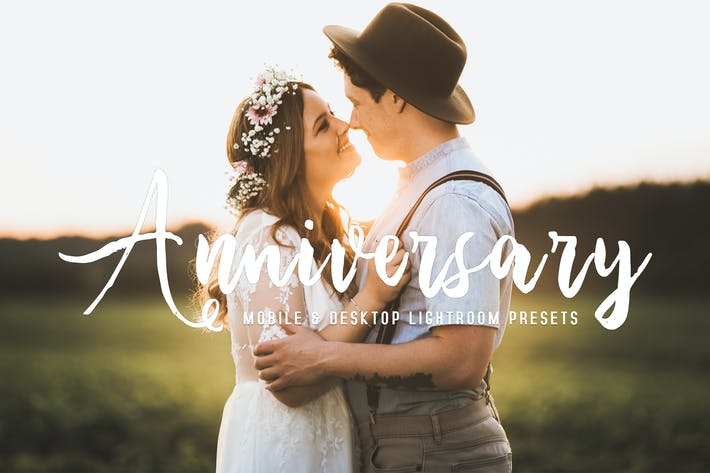 Thumbnail for Anniversary Mobile & Desktop Lightroom Presets