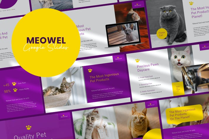 Thumbnail for Meowel - Google Slides Template