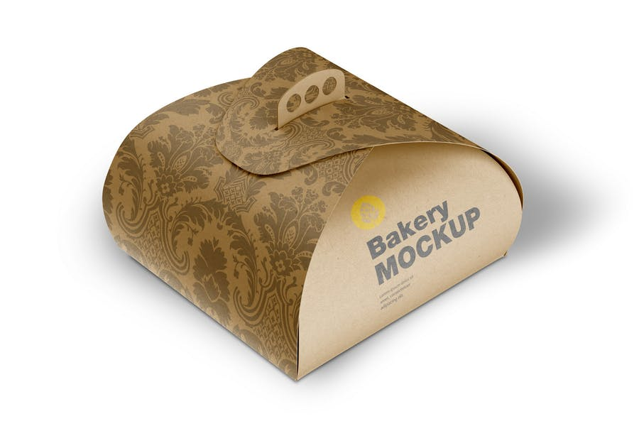 Kraft Box Mockup with Handle