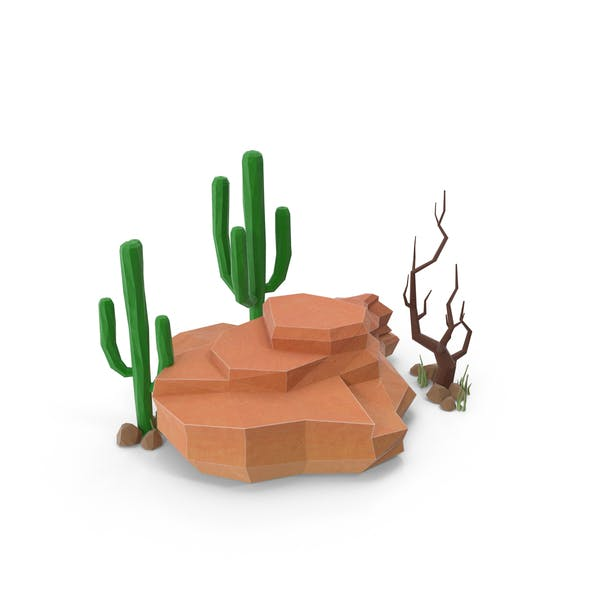 Thumbnail for Boulder with Cacti