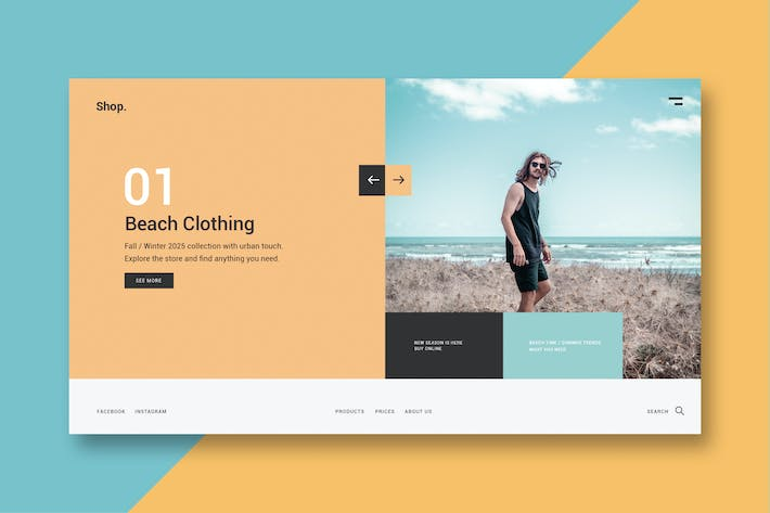 Thumbnail for Clothing & Fashion - Landing Page