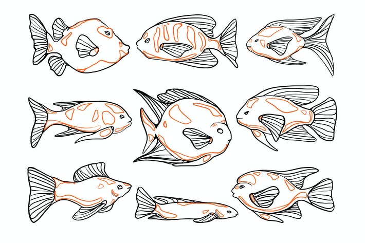 Thumbnail for Aquarium Fish Doodles