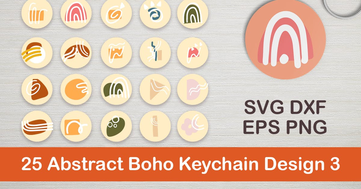 Download 25 Abstract Boho Keychain Designs 3 by DmLetter