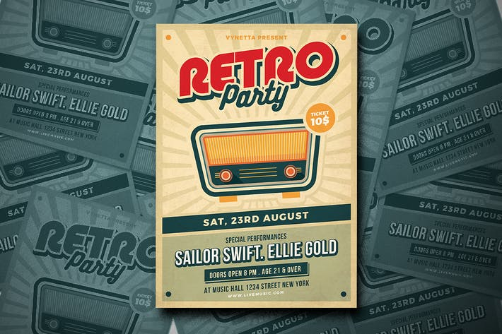 Thumbnail for Retro Music Poster / Flyer
