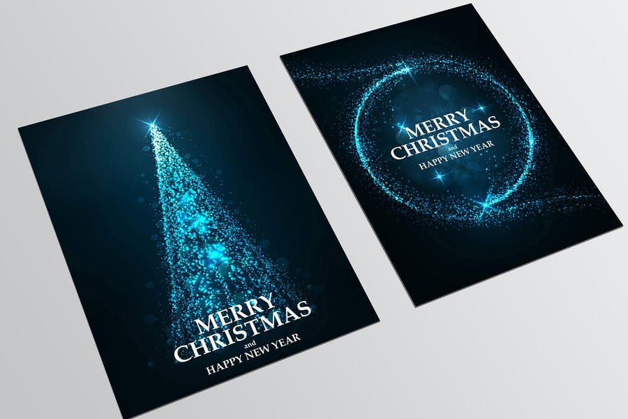 Christmas colorful greeting cards